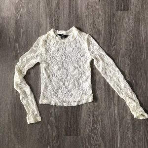 Lace long sleeve party top